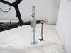 0  trailer jack etrailer side frame mount drop leg square w/ footplate - bolt on zinc sidewind 29-1/8 inch lift 2.5k