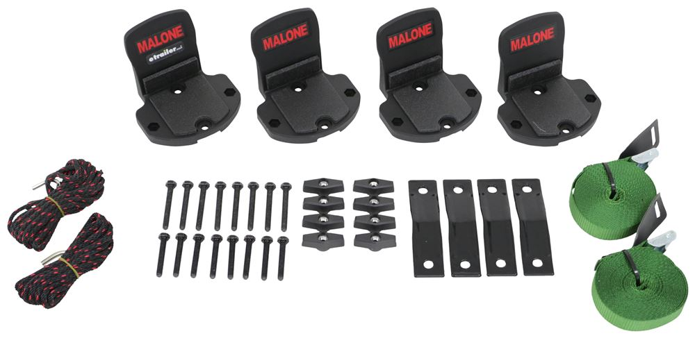 Malone BigFoot Pro Canoe Carrier with Tie-Downs - Gunwale Brackets - Side Loading - Clamp On Clamp On MPG112MD