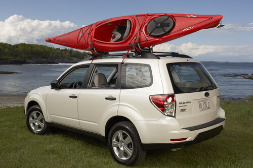 2 Set Roof J rack Kayak Boat Canoe Car SUV top Mount Carrier with 1 Dolly Cart Trailer Carrier Wheels Gold Standard Goods