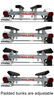 malone trailers roof rack on wheels spare tire included microsport trailer for 2 heavy kayaks - 7' bunks 800 lbs