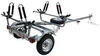 Malone MicroSport Trailer for 2 Kayaks - J-Style - 13' Long - 800 lbs Spare Tire Included MPG461G2