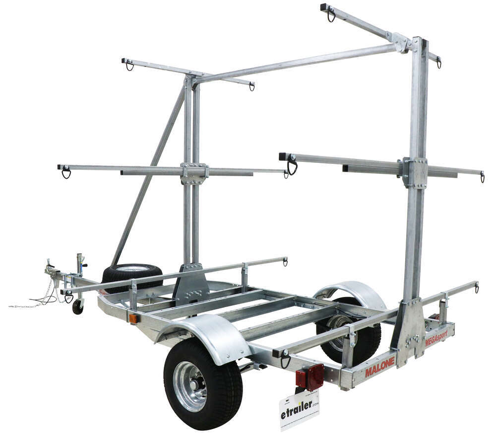 Malone MegaSport Outfitter 3 Tier Trailer for Boat Fleet - 14' Long - 1000 lbs 2 Inch Ball Coupler MPG550-O