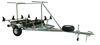 malone trailers roof rack on wheels 2-tier spare tire included storage box megasport 2 tier trailer with saddleup pro kayak cradles - 14' long boat