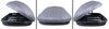 malone roof box  aero bars factory square round elliptical profile18s rooftop cargo - 18 cubic ft gray