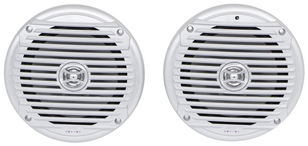 "Jensen Marine Speakers - Recessed Mount - 7"" Diameter - 60 Watts - Silver - Qty 2 7 Inch Diameter MS6007SR"