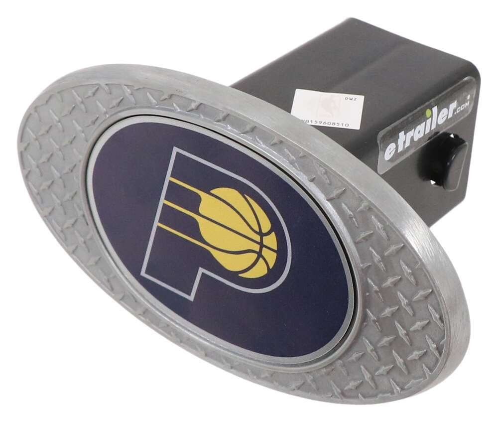 "Indiana Pacers 2"" NBA Trailer Hitch Receiver Cover - Zinc Metal Face OHCC2211"