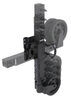 ark trailer jack side frame mount swivel - pull pin extreme off-road swing-up w/ dual wheels sidewind 10 inch lift 1 650 lbs black