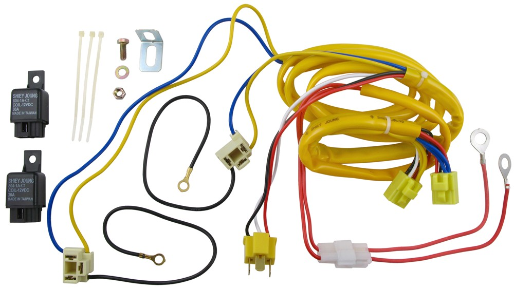 Putco Heavy-Duty Harness and Relay for H4 Halogen Bulbs Putco Accessories  and Parts P230004HW | Putco Headlight Wiring Harness Jeep |  | etrailer.com