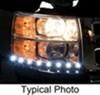 putco vehicle lights accent light g2 led headlamp day liners - 1 pair black aluminum