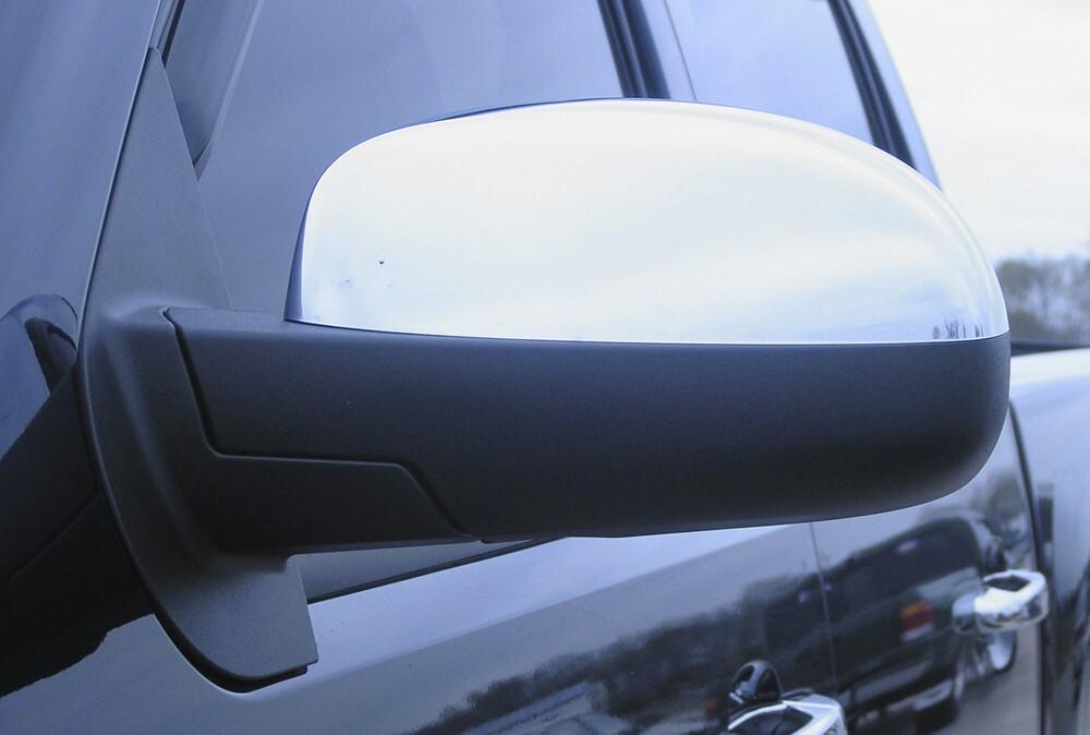 Putco Chrome Mirror Overlays for Chevy/GMC No Cutout P400130