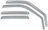 putco rain guards side window 4 piece set element in-channel - chrome