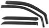 putco air deflectors 4 piece set front and rear windows element in-channel window visors - tinted