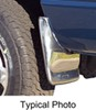 putco mud flaps drilling required custom width custom-fit skins - polished stainless steel front pair