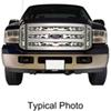 putco truck grilles snap-on flaming inferno stainless steel grille insert for ford super duty