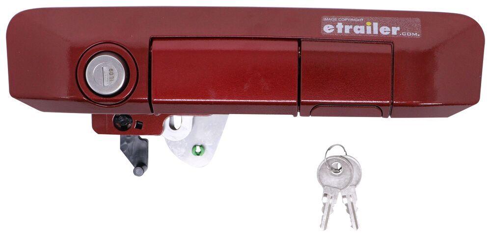 Pop & Lock Custom Locking Tailgate Handle - Manual - Barcelona Red Keyed Unique PAL5501