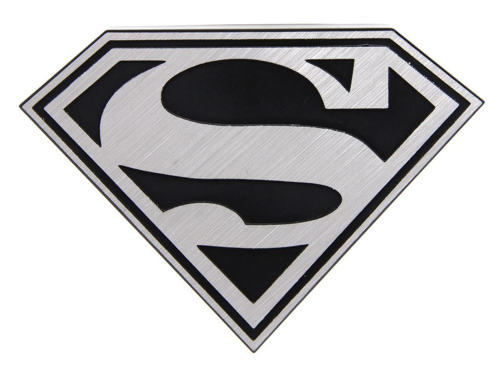 Superman S Logo Brushed Aluminum Hitch Plug