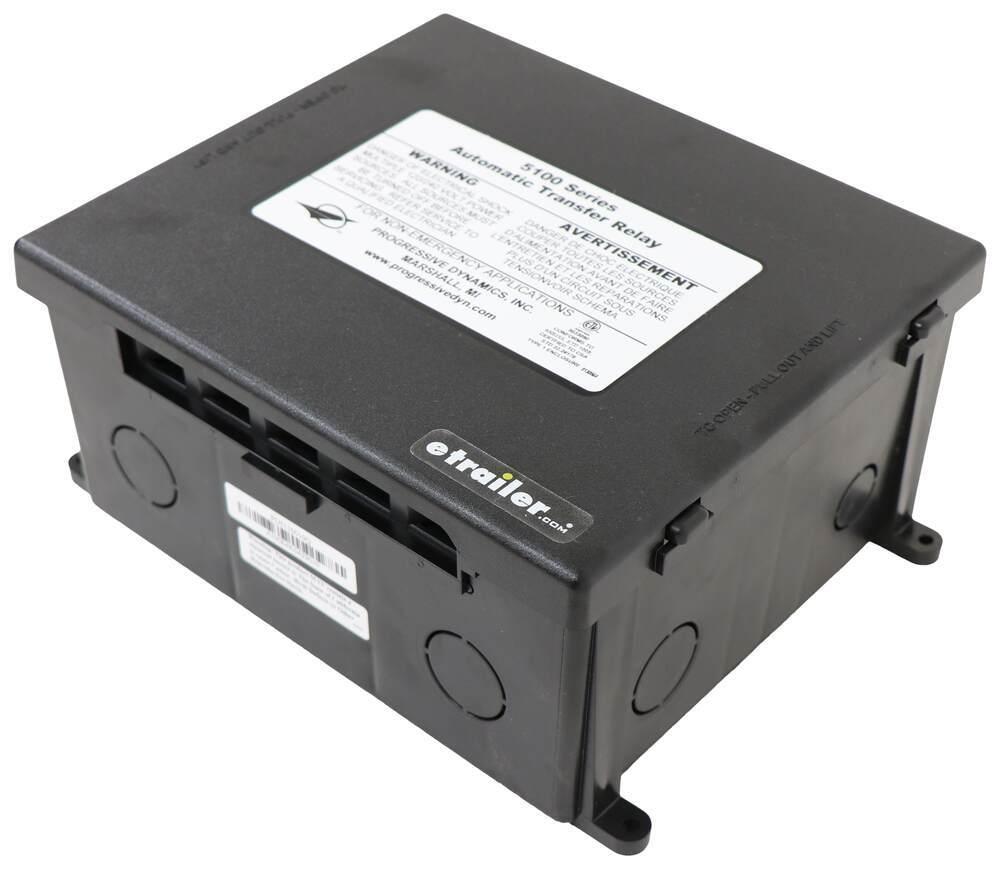 Progressive Dynamics Transfer Switch with Quick Flip Connectors - Plastic Case - 30 Amp - 120V 120V PD5110010Q
