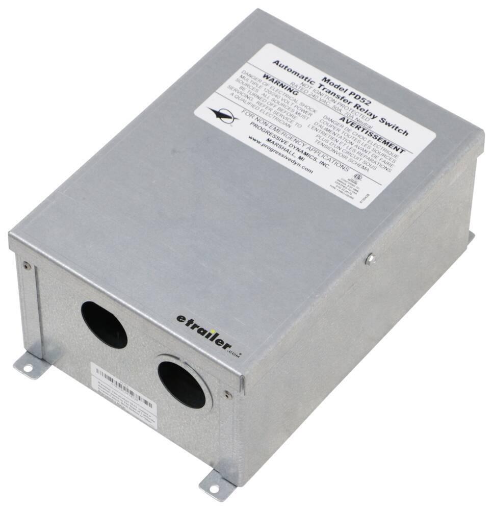 RV Transfer Switch PD52 - 120V,240V - Progressive Dynamics
