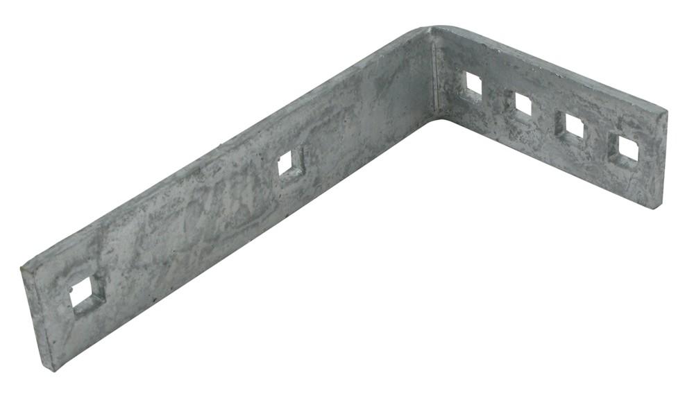 Galvanized Steel, L-Shaped, Bolt-On Bracket for Plastic, Single-Axle Trailer Fender PF775X21W 7 Inch Tall PF775-BKT