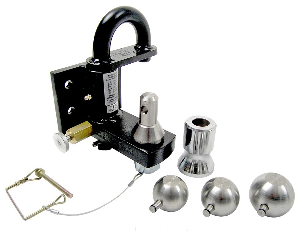Pintle Hook Combo with Stainless Steel 1-7/8 Inch 2 Inch and 2-5/16 Inch Balls