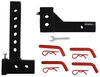 """Patriot Hitches Adjustable Drop Hitch Receiver Adapter - 2"""" Hitches - 11"""" Rise/Drop - 7K No Ball PH54FR"""