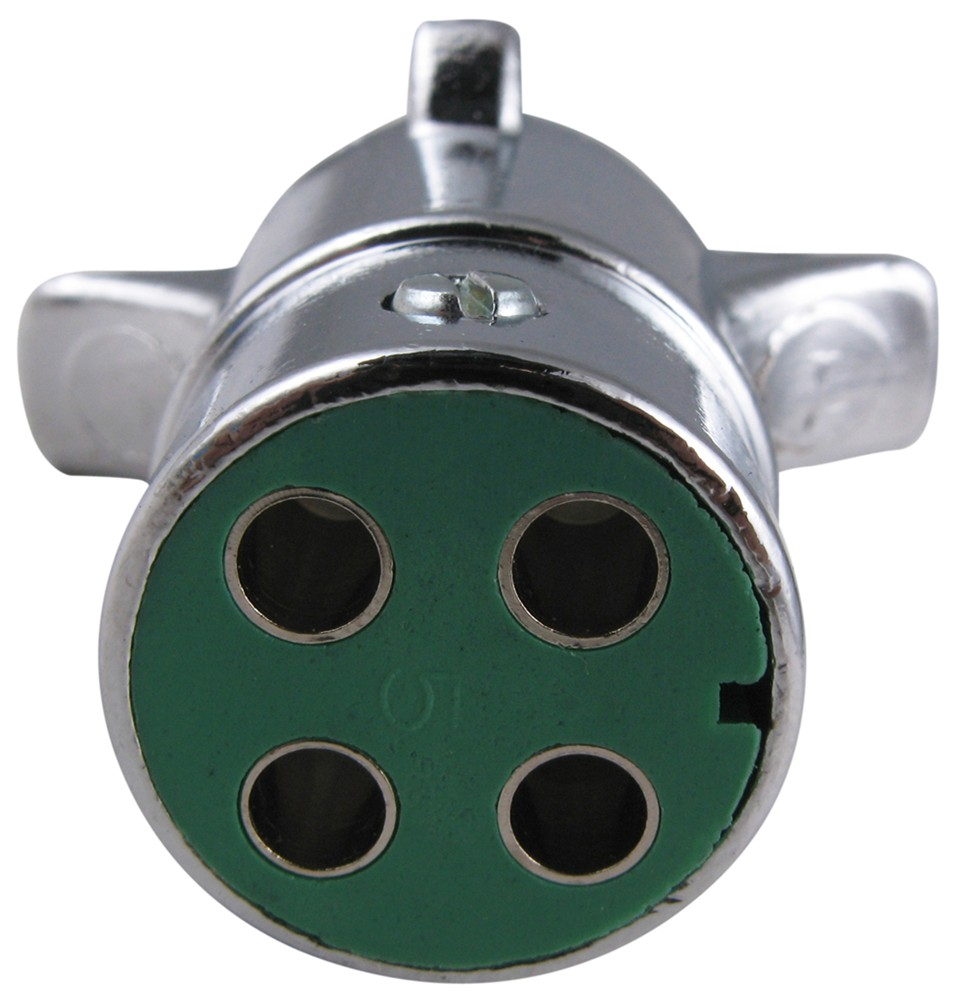Pollak Heavy Duty 4 Pole Round Pin Trailer Wiring Connector Chrome Trailer End Pollak Wiring Pk11409