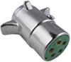 Pollak 5-Pole, Round Pin Trailer Wiring Connector - Chrome - Trailer End Plug Only PK11501