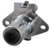 Pollak 5-Pole, Round Pin Trailer Wiring Socket, Concealed Terminals - Chrome - Vehicle End Plug Only PK11502