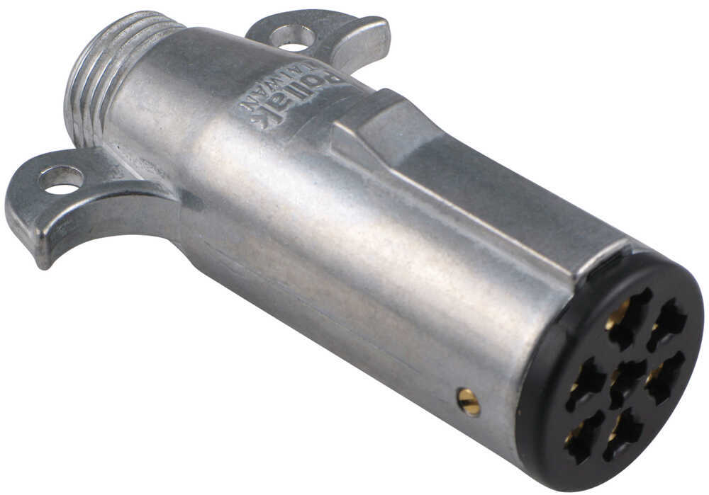 Pollak Heavy-Duty, 7-Pole, Round Pin, Trailer Wiring Connector - Trailer  End Pollak Wiring PK11700
