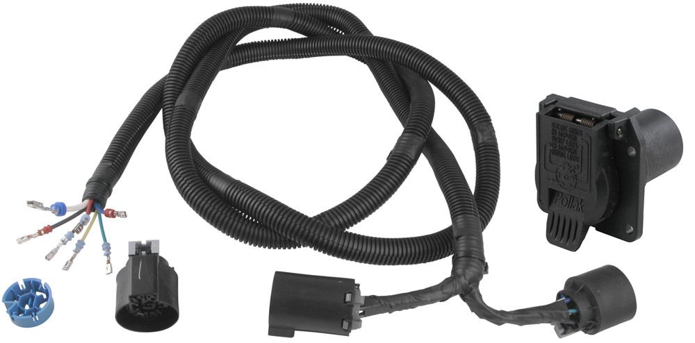 Pollak 5th Wheel / Gooseneck T-Connector with 7-Pole - Ford, GM, Dodge, Nissan w/ Factory Plug Custom Fit PK11893-11932