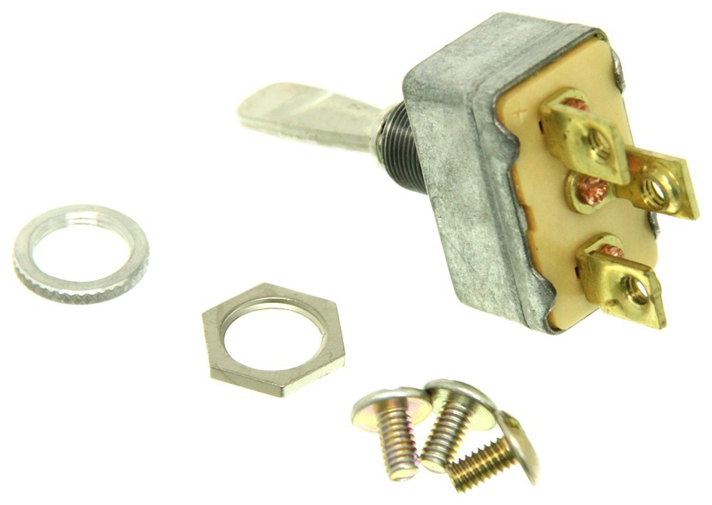 Pollak Heavy-duty Toggle Switch - Spdt- On-off-on