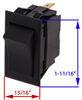 Pollak Universal-Design Rocker Switch - SPST - On-Off - 12 Volt - 20 Amp - Black 20 Amp PK34308