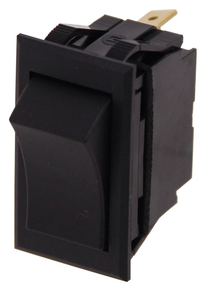 Pollak Universal-Design Rocker Switch - SPST - On-Off - 12 Volt - 20 Amp - Black Rocker Switch PK34308
