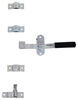 Cam-Action Lockable Door Latch Kit w/ Wide Hasp for Small Enclosed Trailers - Zinc-Plated Steel Lock Not Included PLR158