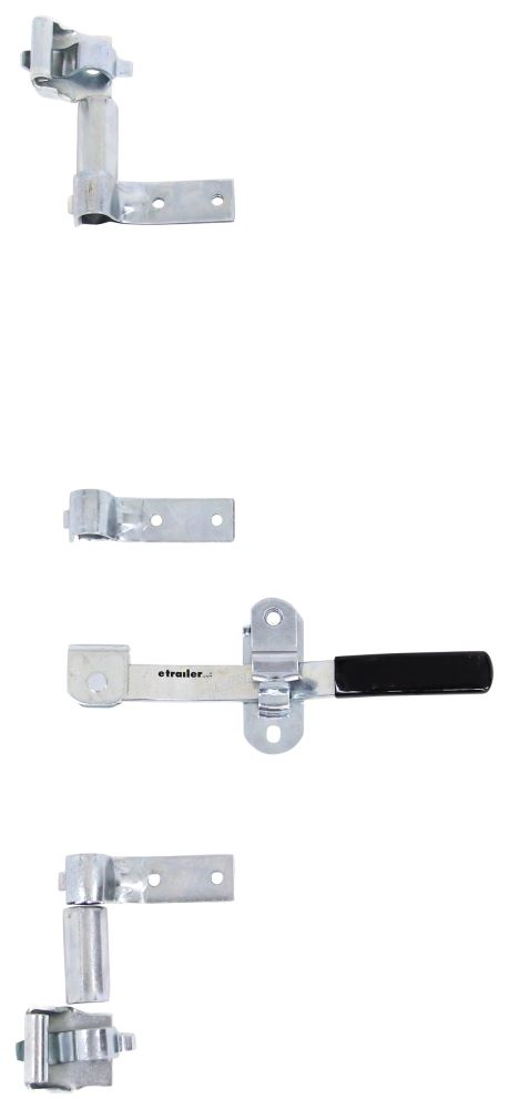 Cam-Action Lockable Door Latch Kit for Large Enclosed Trailers - 2 Point - Zinc-Plated Steel 14-1/2 Inch Long Handle PLR458-018
