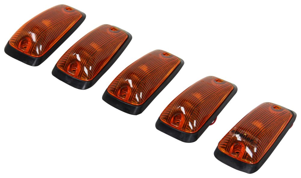 Pacer Performance Hi-Five Truck Cab Light Kit - Chevy/GM - 5 Piece - White Bulbs - Amber Lens Amber PP20-220
