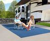 0  rv rugs prest-o-fit outdoor 9l x 6w feet surface mate rug kit - 6' 9' blue