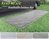 0  rv rugs prest-o-fit outdoor 15l x 6w feet aero-weave rug w/ storage bag - 6' 15' gray