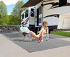 0  rv rugs prest-o-fit outdoor 9l x 6w feet surface mate rug kit - 6' 9' gray