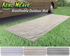 0  rv rugs prest-o-fit outdoor 15l x 6w feet aero-weave rug w/ storage bag - 6' 15' brown
