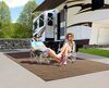 0  rv rugs prest-o-fit outdoor 9l x 6w feet surface mate rug kit - 6' 9' brown tan