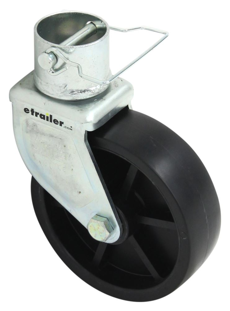 "Pro Series 6"", Detachable Caster w/ Pin for 2"" Diameter Jacks - 1,200 lbs Wheel w Caster Assembly PS1400750340"