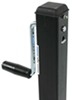 """Pro Series Square Jack with Footplate - Drop Leg - Sidewind - 28-5/8"""" Lift - 5,000 lbs 29 Inch Lift PS1401600383"""