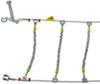 Glacier Cable Snow Tire Chains - 1 Pair No Rim Protection PW2021C
