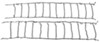 glacier tire chains on road only twist-link snow with cam tighteners for wide-base and dual tires - 1 pair