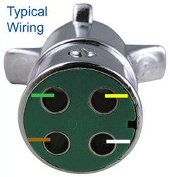 Way Round Pin Trailer Wiring Connector