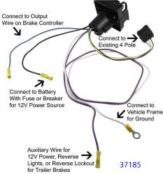 [CSDW_4250]   Recommended 4-Way to 7-Way Wiring Harness For 2007 Dodge Ram 1500 Pickup    etrailer.com   2007 Dodge Truck Wiring Harness      etrailer.com