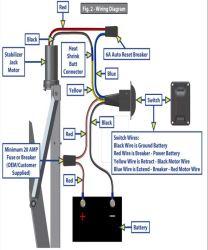 Wiring Diagram for Lippert Stabilization Jack LC298707 | etrailer.com | Hydraulic Leveling Jacks Wiring Diagram |  | etrailer.com