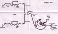 light kit wiring diagram how to wire the optronics driving light kit qh 85cd etrailer com club car light kit wiring diagram optronics driving light kit qh 85cd