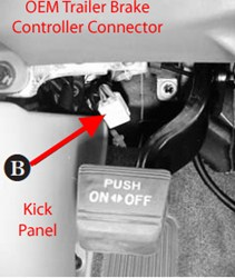 locating brake controller connector on 2013 toyota tacoma with factory tow  package | etrailer.com  etrailer.com